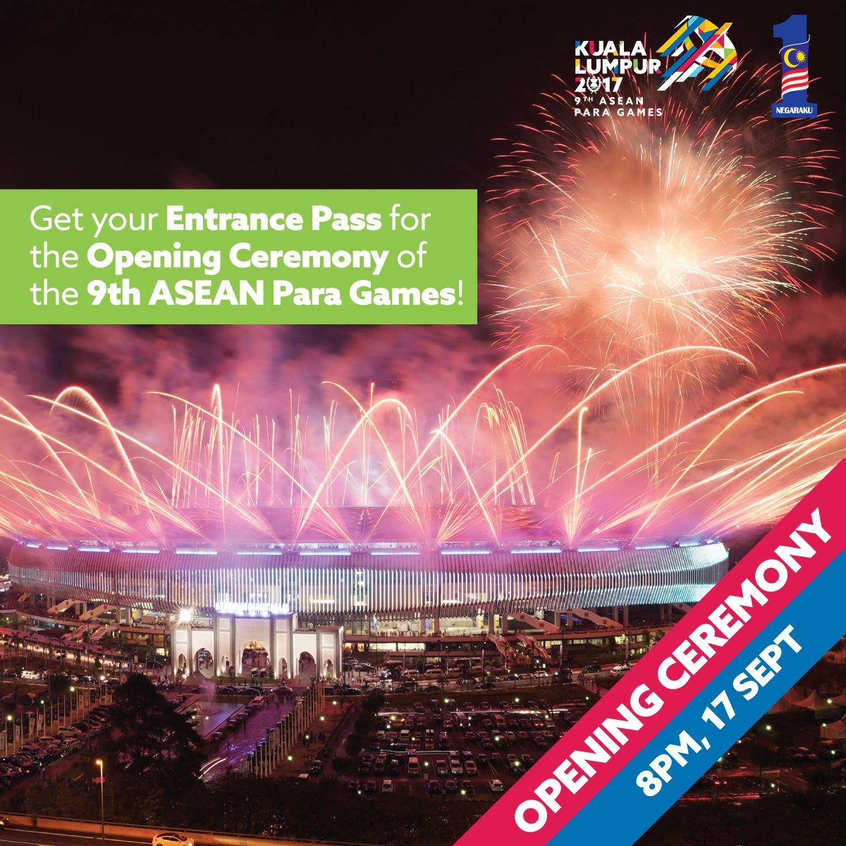 Sukan Para ASEAN Kuala Lumpur 2017 Akan Membuka Tirai