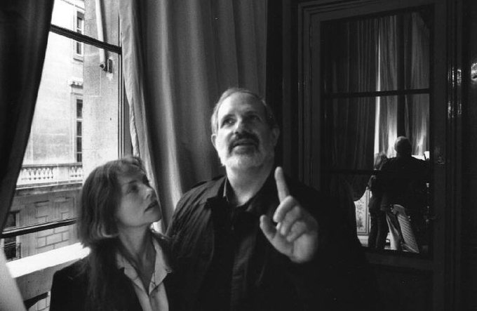 Happy birthday Brian De Palma With Isabelle Huppert in Paris Rene Burri, 1993