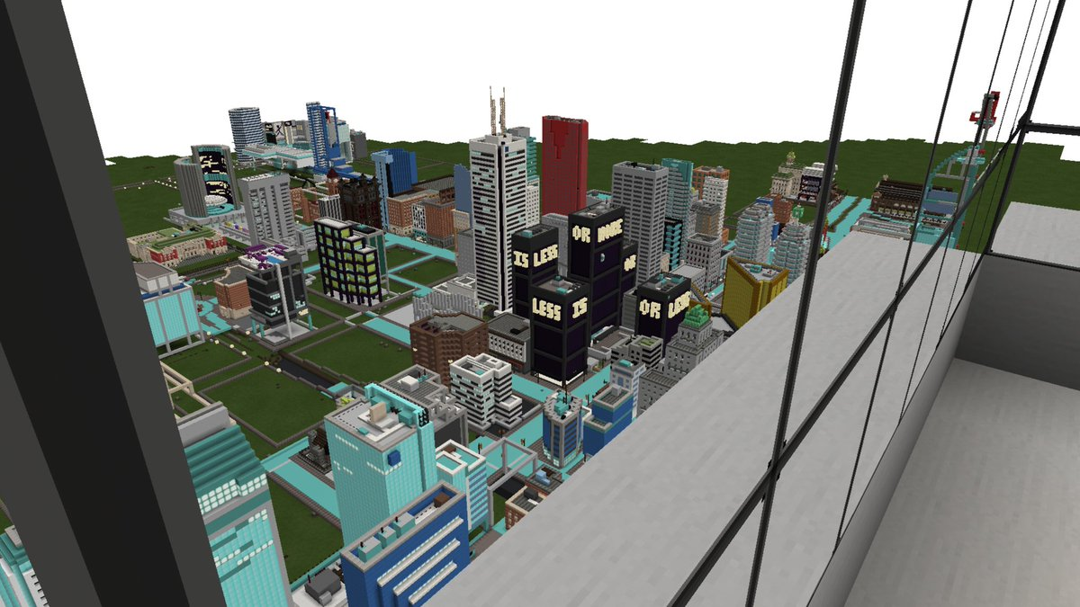 Minecraft Toronto On Twitter What Does It Look Like From Inside My Cn Tower Minecraftto Minecraftpe Minecraft Mcpe