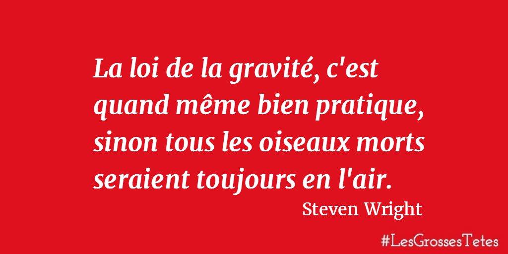 Une #citation de Steven Wright dans #LesGrossesTetes <br>http://pic.twitter.com/v3gmj2V7tE