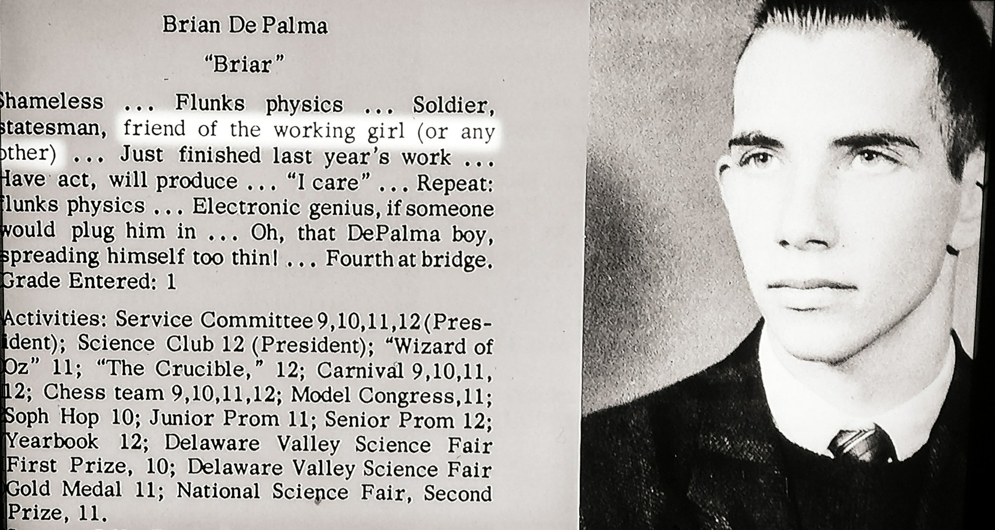 Happy Birthday to  Brian De Palma