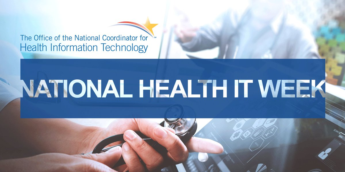 Mark your calendars. It's about to be National #HealthIT Week this OCTOBER 1- 7, 2017! Follow the hashtag #NHITWeek https://t.co/HppoHGlCnl