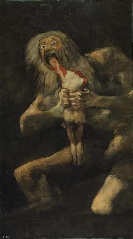 Na imagem, um homem pelado come um criancinha: o quadro de Goya deveria fechar o Museu do Prado na Espanha? @MBLivre