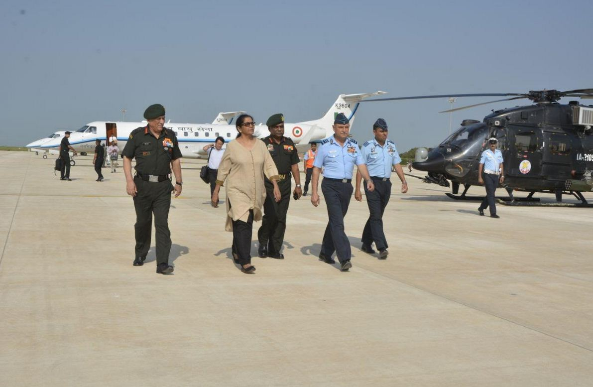 First Indian woman defence minister Sitaraman visits creek area bordering Pakistan, air and army bases in Gujarat