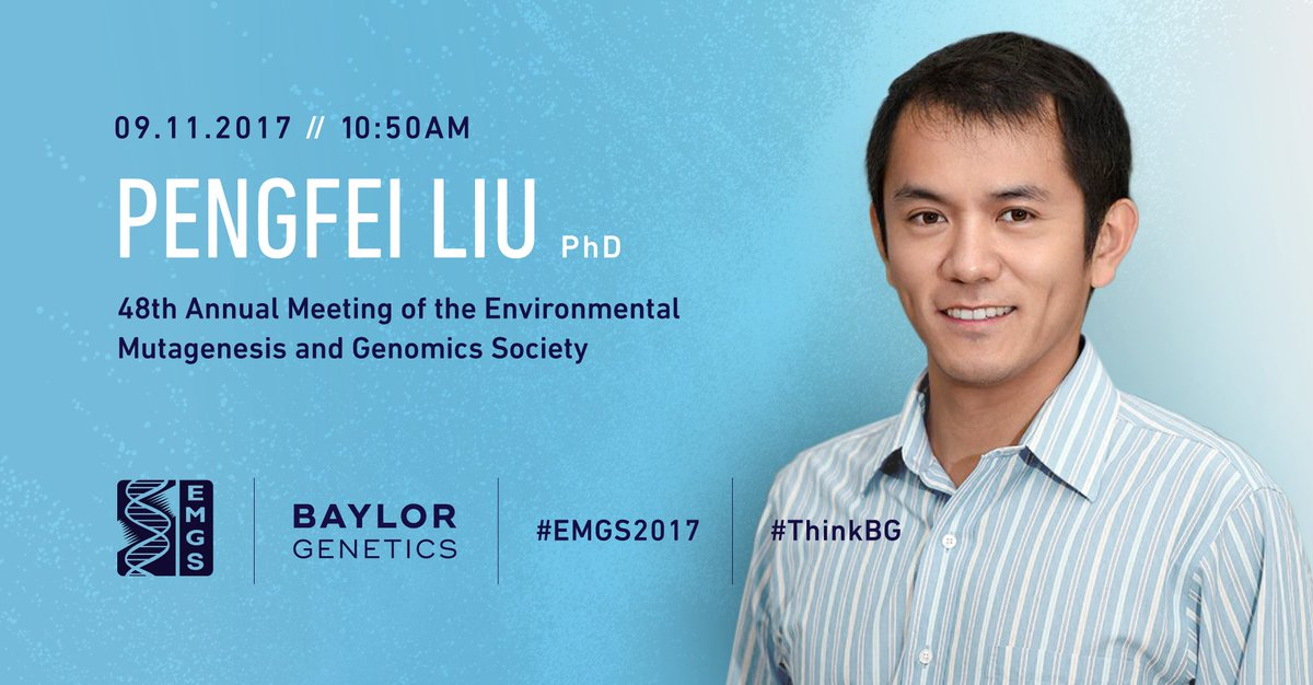 Dr. Liu is presenting on Genome Mosaicism at #EMGS2017 #ThinkBG. Details:  http:// bit.ly/2xVxPaP  &nbsp;  <br>http://pic.twitter.com/I0hx72XfiE