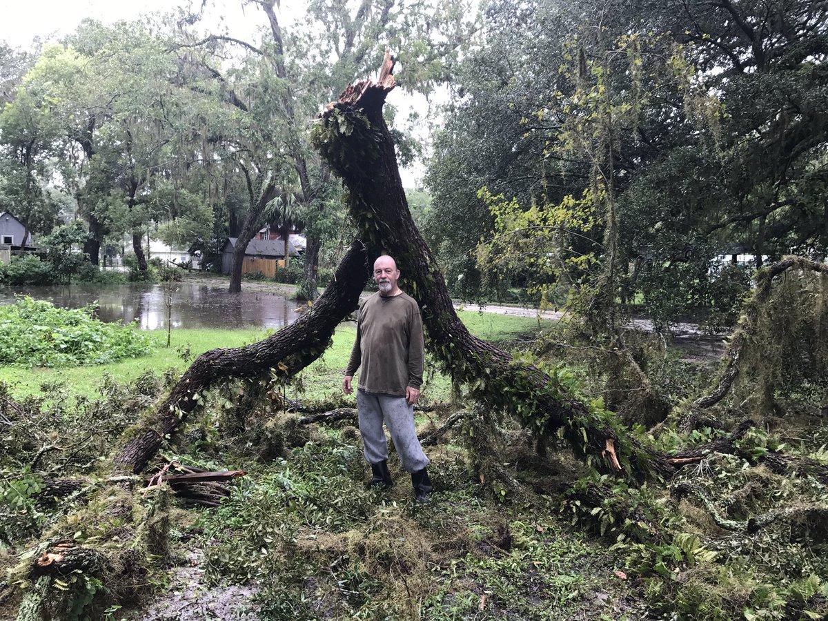 Around my parent&#39;s neighborhood. #HurricaneIrma #Irma #LiveOak #Florida<br>http://pic.twitter.com/ry0jC3dUOf