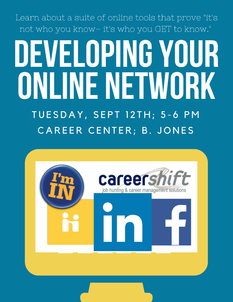 have you applied for a job with careershift learn to use online networking tools tomorrow at the career center httpstcoomibxvnzzj - Why Have You Applied For This Job