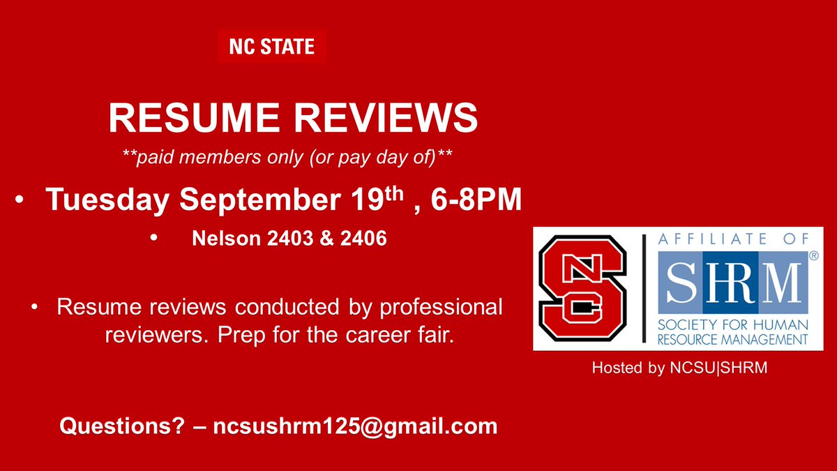 ncsu shrm on twitter going to the pcom career fair join us for