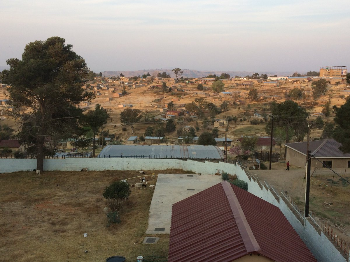 The quiet view from my hotel in #Lesotho - my 112th country. <br>http://pic.twitter.com/587H39Kr27