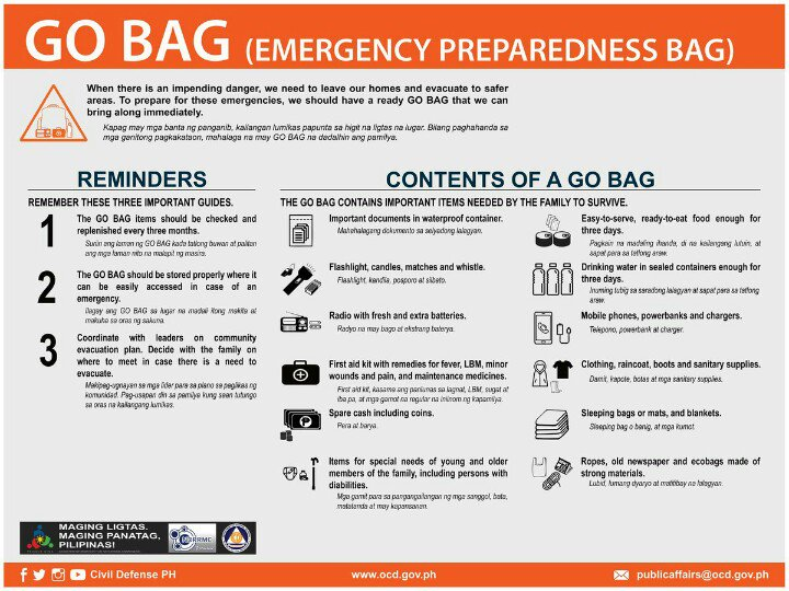 Stay alert. Know what to do before, during and after an emergency. Read and share these safety tips. #BidaAngHanda https://t.co/VVw5U7Dlaw