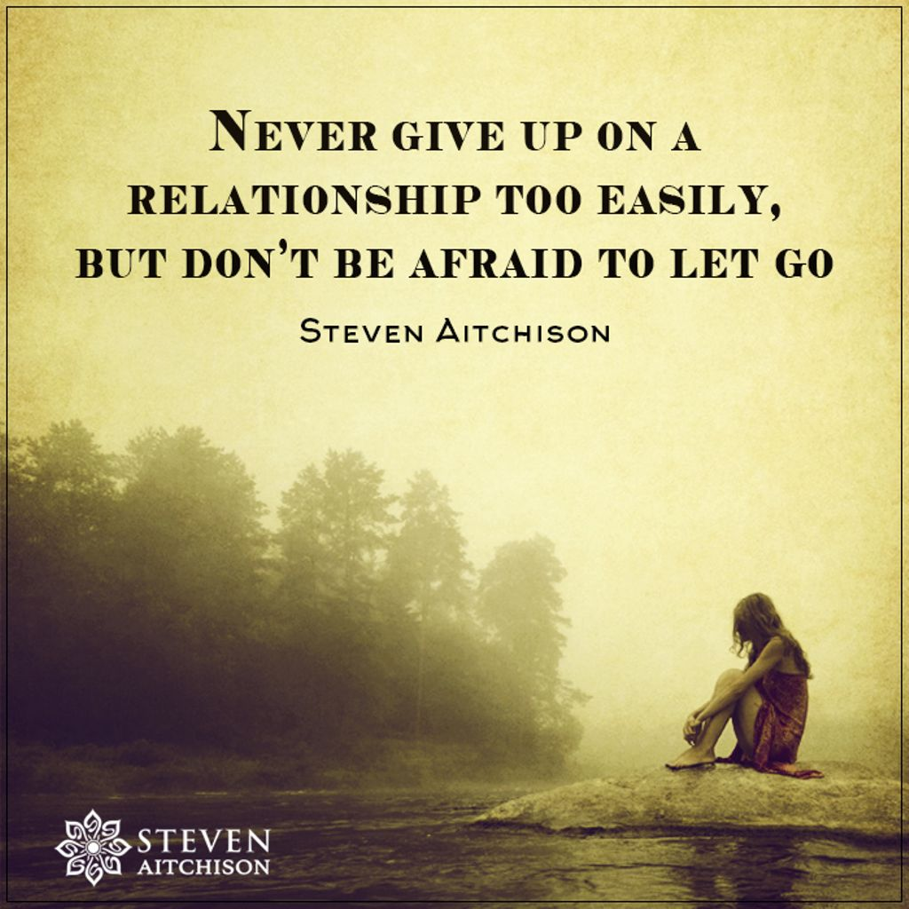 Let go never give up its such a wonderful life