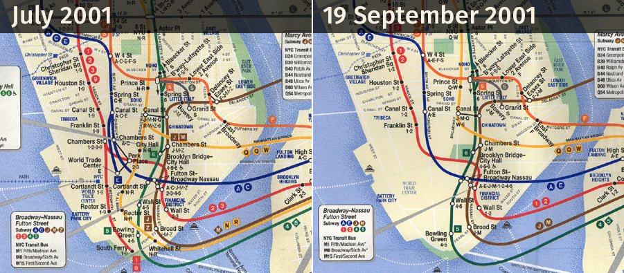 Large Ny Subway Map.Transit Maps On Twitter Comparison Between A New York Subway Map