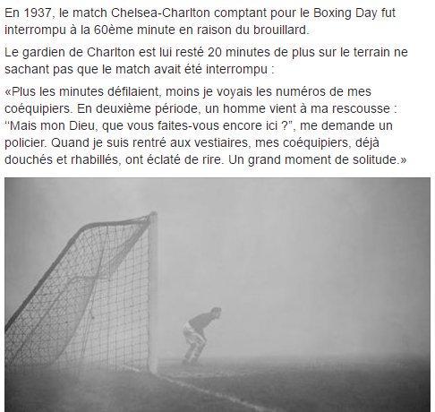Cette histoire incroyable lors du Boxing Day en 1937