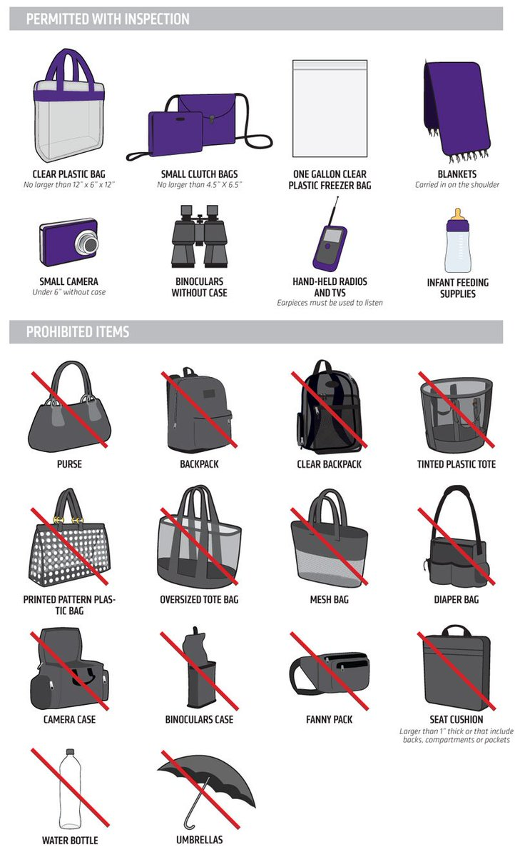 U S Bank Stadium On Twitter The Nfl Clear Bag Policy Will Be In Effect For Tonight Vikings Https T Co 9aital73ua