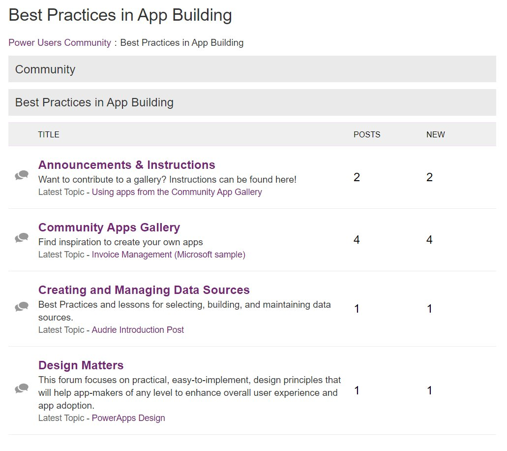 Community Forum Apps