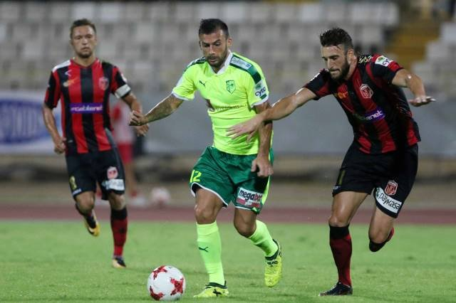 Trichko and Damchevski in a duel on Cyprus; photo: AEK Larnaca