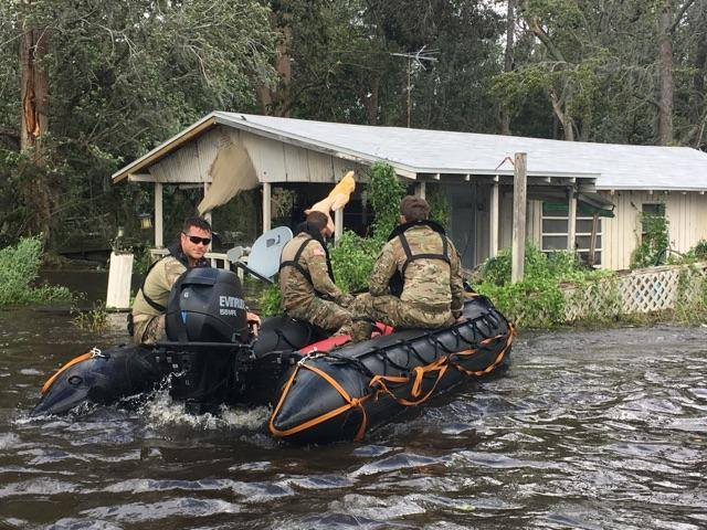 #Soldiers with the #FLGuard are going door to door in the Jacksonville area following #hurricaneirma. #Irma