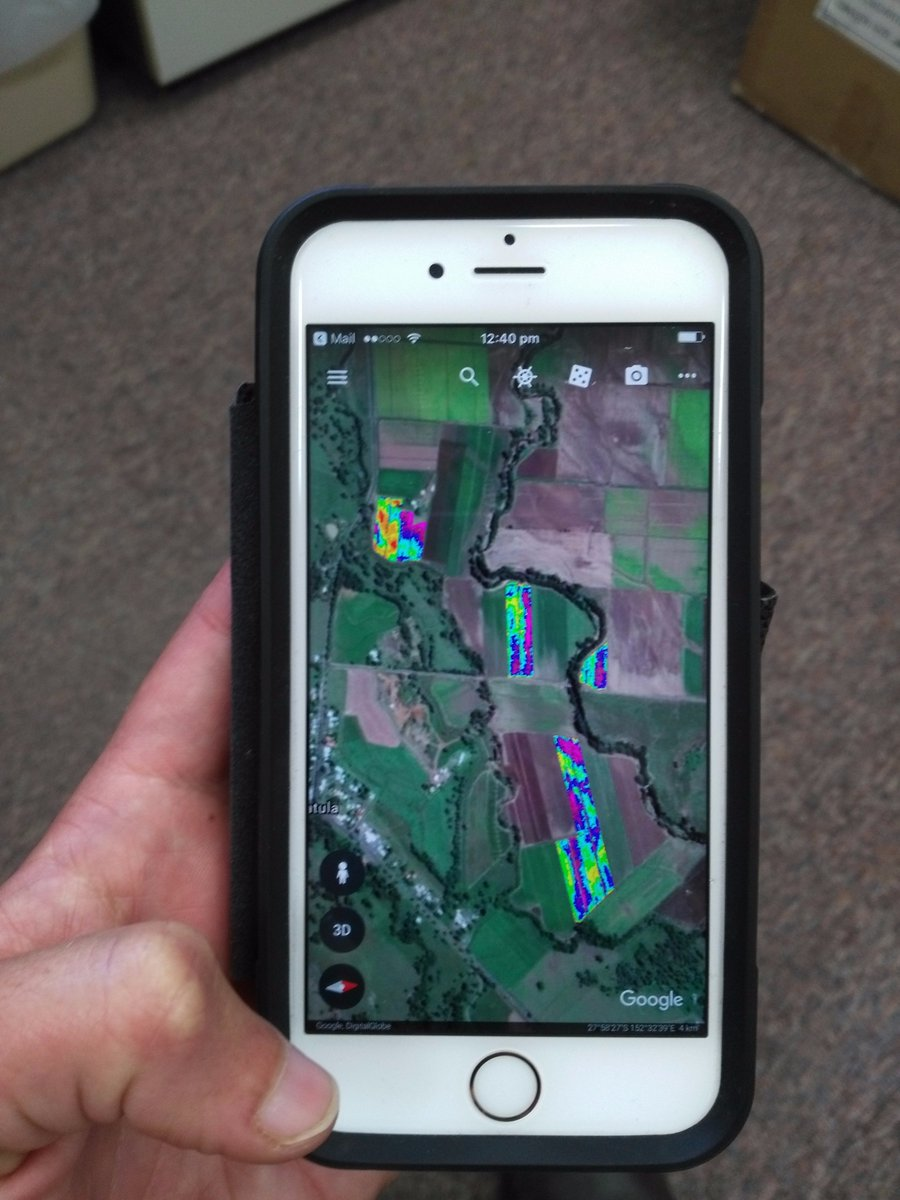 #NDVI KMZ files can be uploaded 2 #GoogleEarth on your smartphone/ tablet Gr8 for checking variation in the field #PA4Veg shows how @Hort_Au<br>http://pic.twitter.com/LbnHXwsIpx