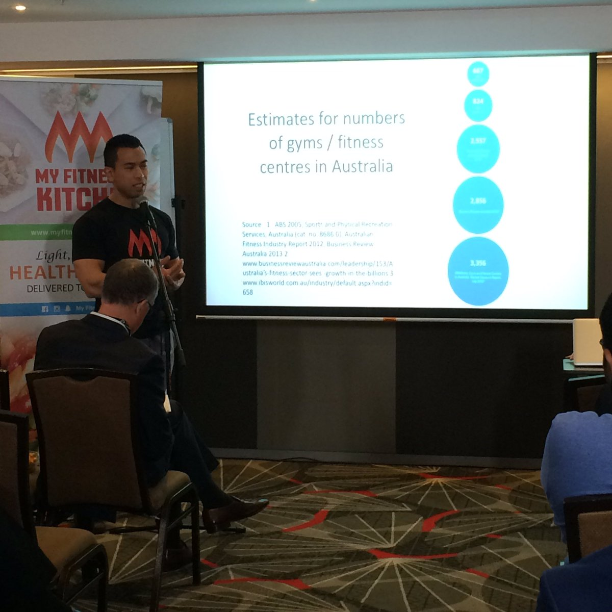 Our very first Jumpstart competitiors are Jonathan and Kimberly from @MyFitnessKitchn  #wssbe #expo #smallbiz<br>http://pic.twitter.com/s8bd6l1jev