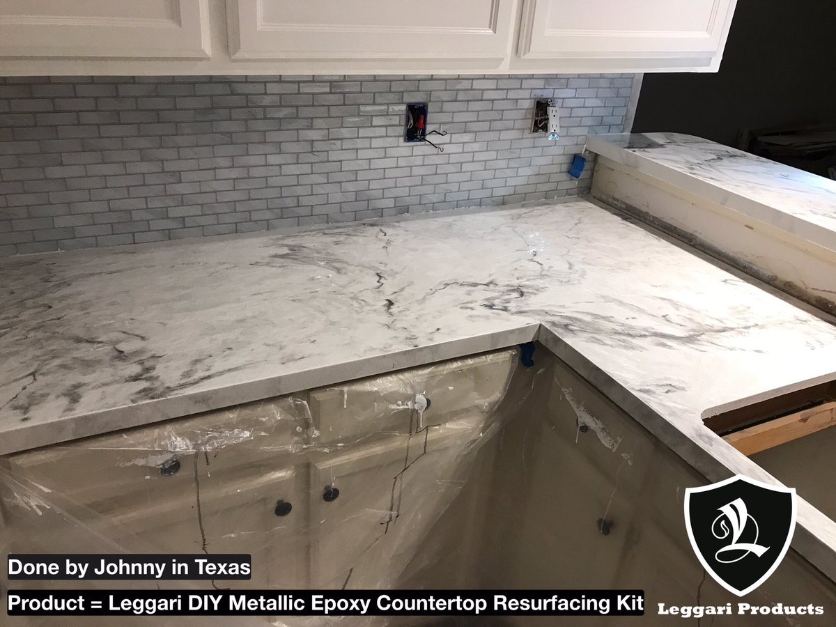Leggari Products On Twitter Diy White Marble Countertop Kits Right Over Your Existing Countertops Only 1 Day Install 17 Metallic Colors Industrial Grade Https T Co O2d6w30pdo