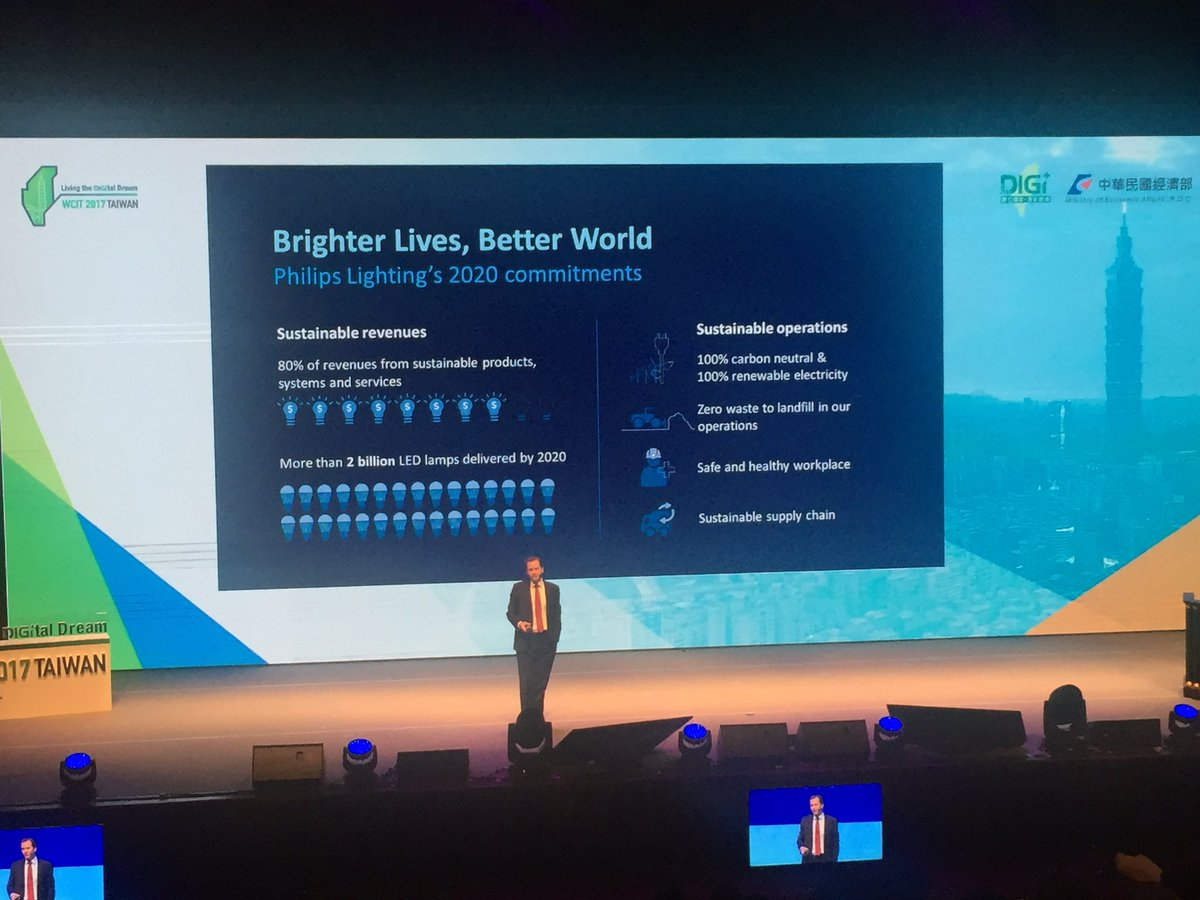 Bill Bien presents the future of Philips and lighting @wcit2017_taiwan  #wcit @PhilipsLight @GeberConsulting #brighterlives<br>http://pic.twitter.com/S3JO48qxse