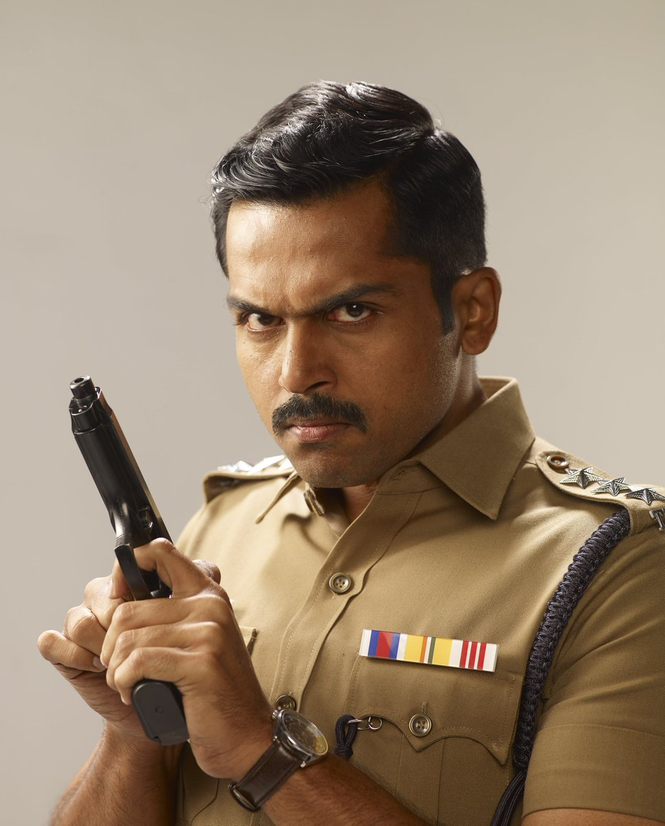Karthi's Theeram Adhigaaram Ondru and Khaki First Look poster