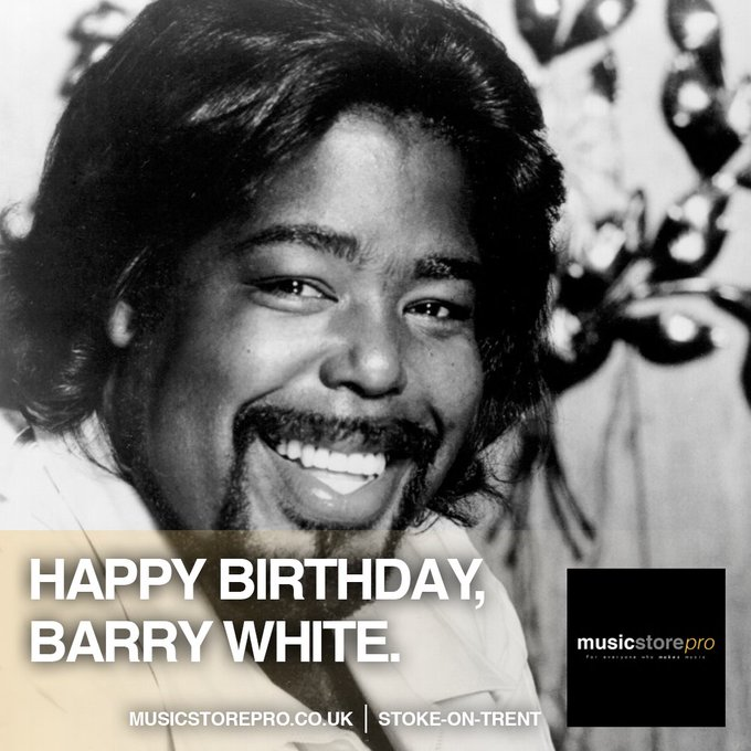 Barry White would have been 73 Years Old Today. Happy Birthday, Barry.