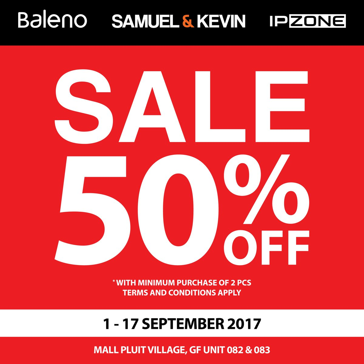 Pluit Village On Twitter Enjoy 50 Discount From Baleno And