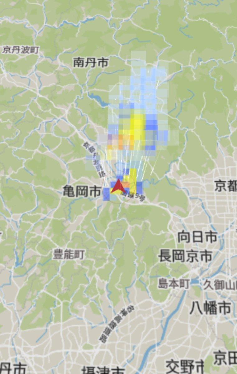 雨雲レーダー 宇治
