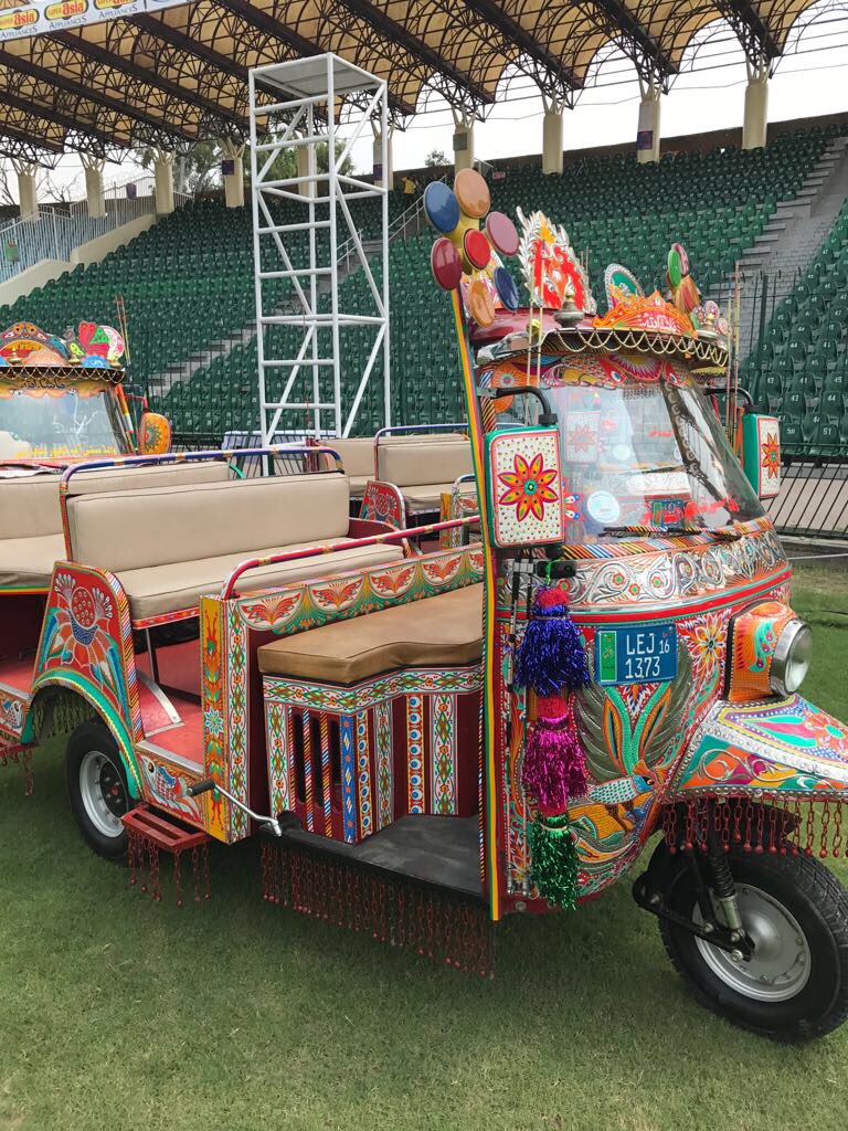 Giving the World XI players a touch of local culture. Yayy or nayy? #PAKvWXI #CricektKiHalalala <br>http://pic.twitter.com/oKIo00UtmV