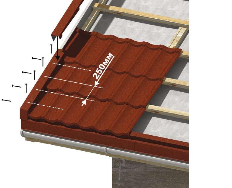 установка ветровой планки на металлочерепицу