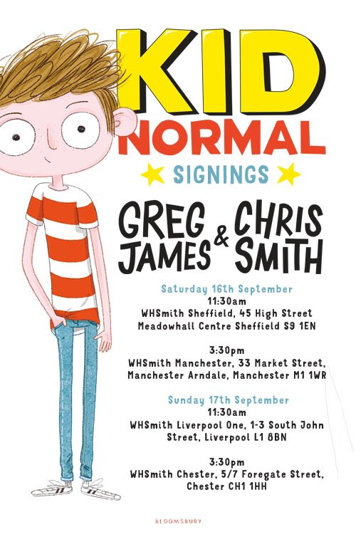 🎺🎺🎺  SHEFFIELD MANCHESTER LIVERPOOL CHESTER  We are coming to a WHSmith near you this weekend. LOOK!  #KidNormal https://t.co/Gy1aLc0SbS