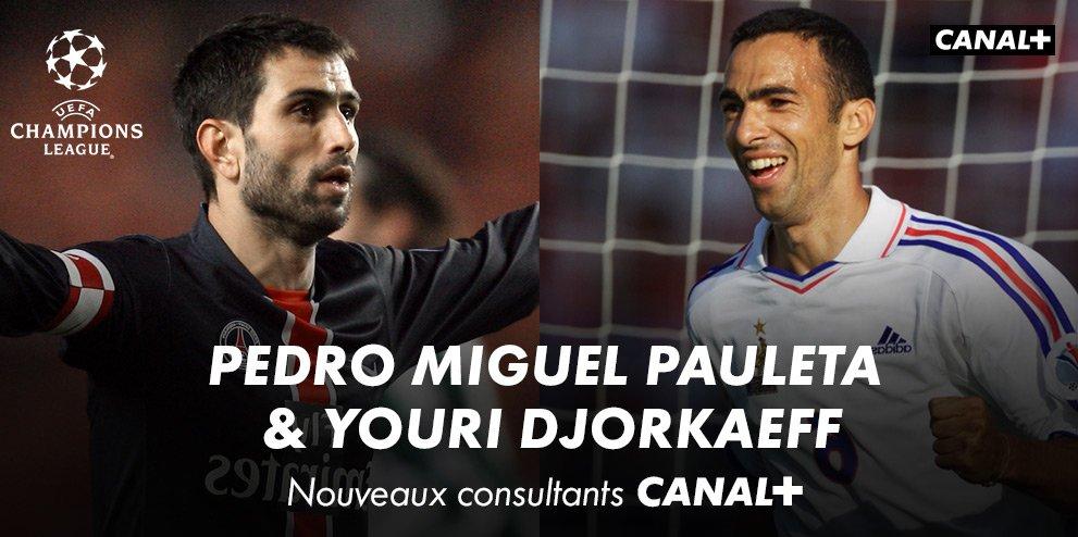 Canal+ annonce que Pauleta et Djorkaeff sont leurs deux nouveaux consultants pour la Champions League !