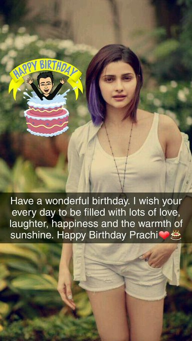 Happy Birthday Prachi Desai    Love You (snap)