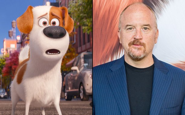 Happy 50th Birthday to Louis C.K.! The voice of Max in The Secret Life of Pets.