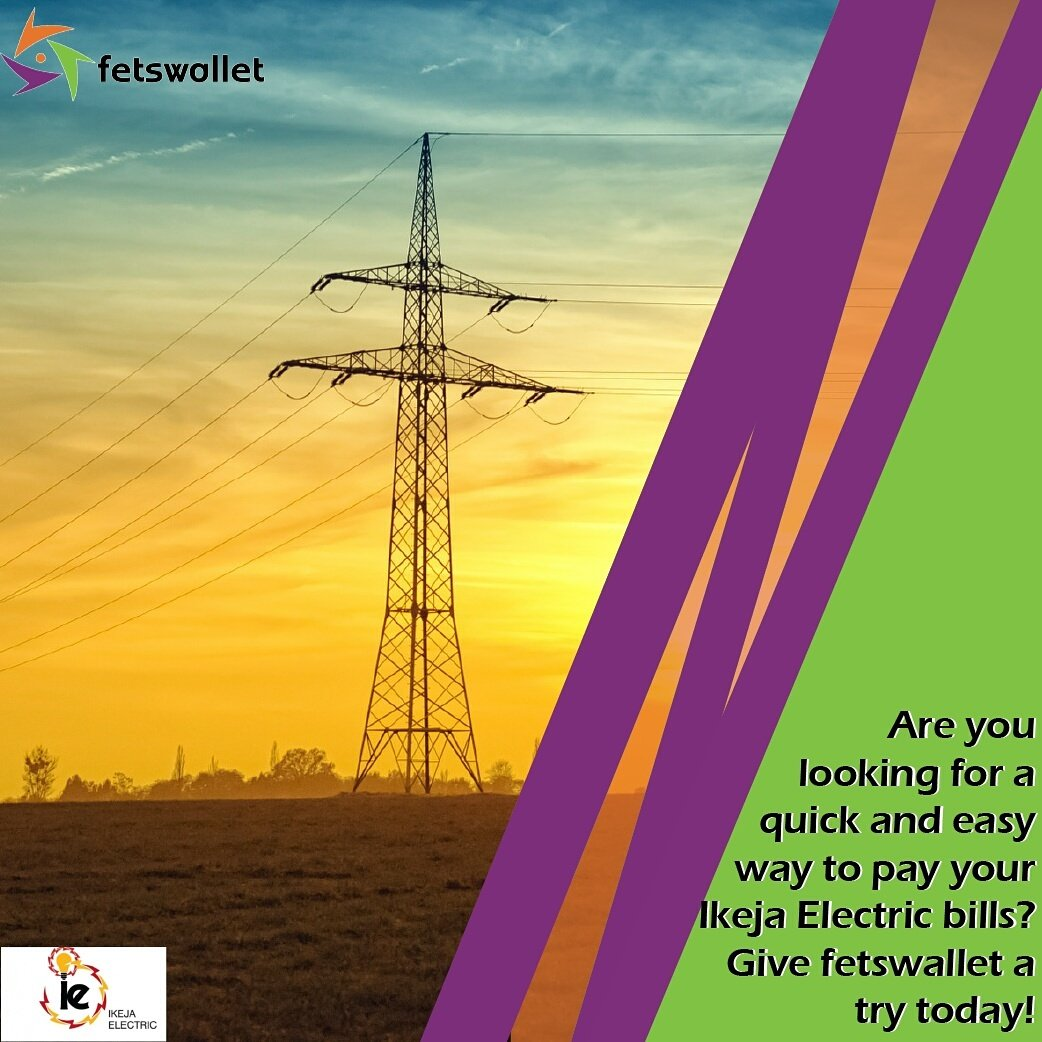 Are you looking for a quick and easy way to pay your Ikeja electric bills?  Give fetswallet a try today!   #fetswallet #DigitalWallet <br>http://pic.twitter.com/ZAoTp7IPF3