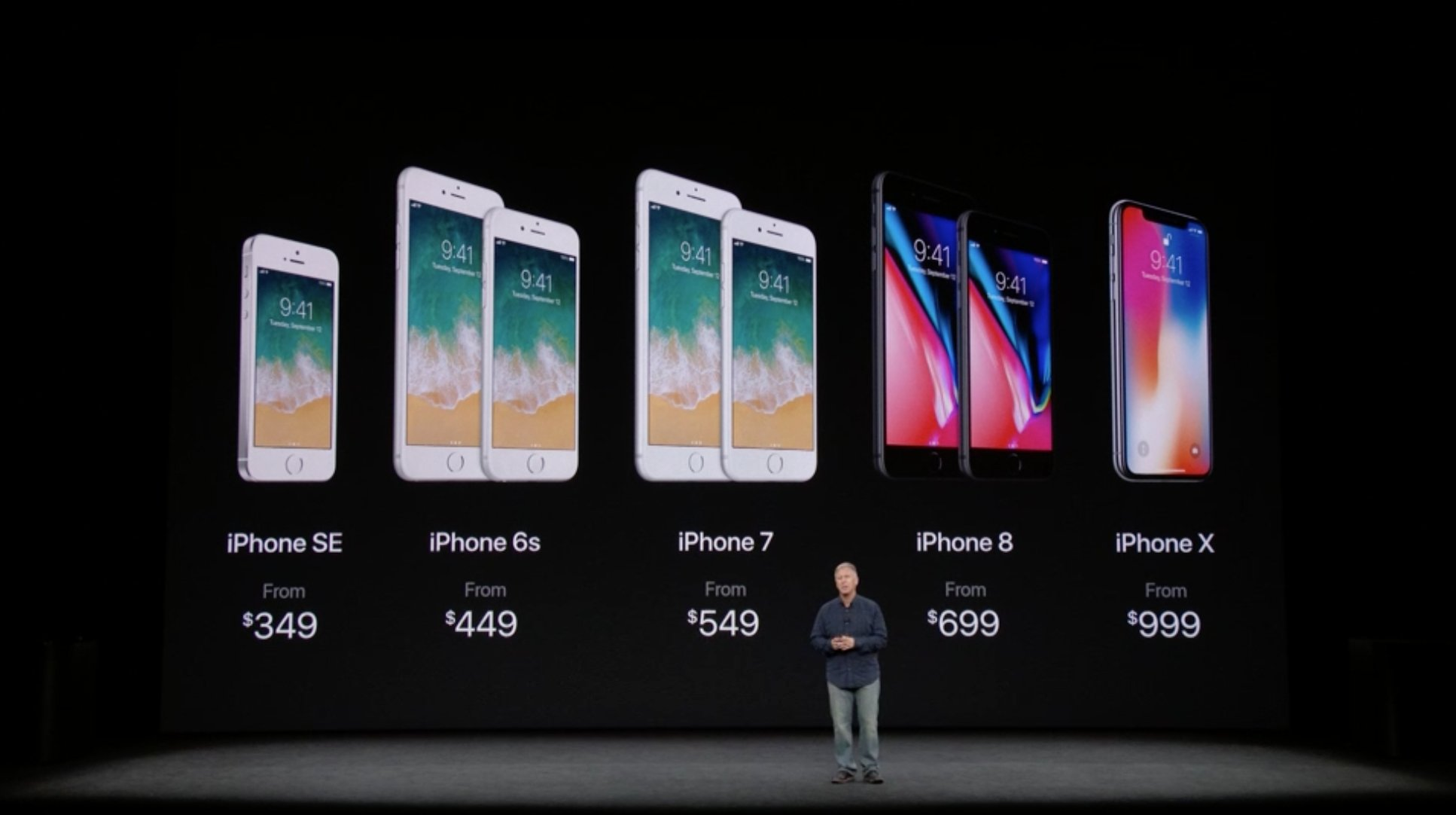 Here's how much the new iPhone 8 and iPhone X cost: https://t.co/vpJm79i84W #AppleEvent https://t.co/AhzeLFcUTm