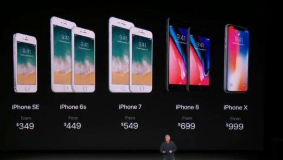 Toda la familia de iPhones, modelo por modelo. #AppleEvent https://t.co/8AGPPGQegJ