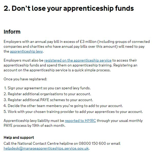Failing to spend the Apprenticeship Levy tax is a huge opportunity wasted...