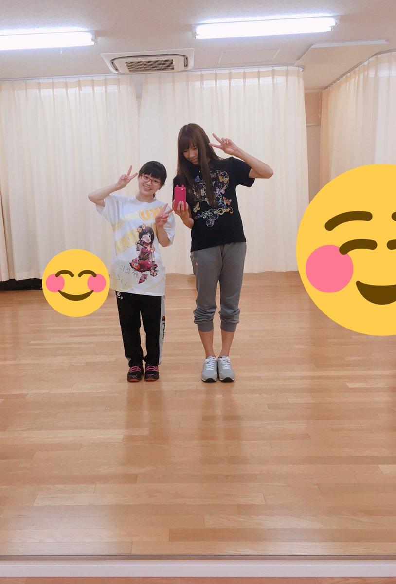 ハッチポッチ、ダンス練習始まってまして∩(*´×`*)∩ 原嶋あかりちゃんと写真撮ってもらいました〜!ほんとちいさくてカワイイ!☺️