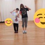 ハッチポッチ、ダンス練習始まってまして∩(*´×`*)∩原嶋あかりちゃんと写真撮ってもらいました〜!…