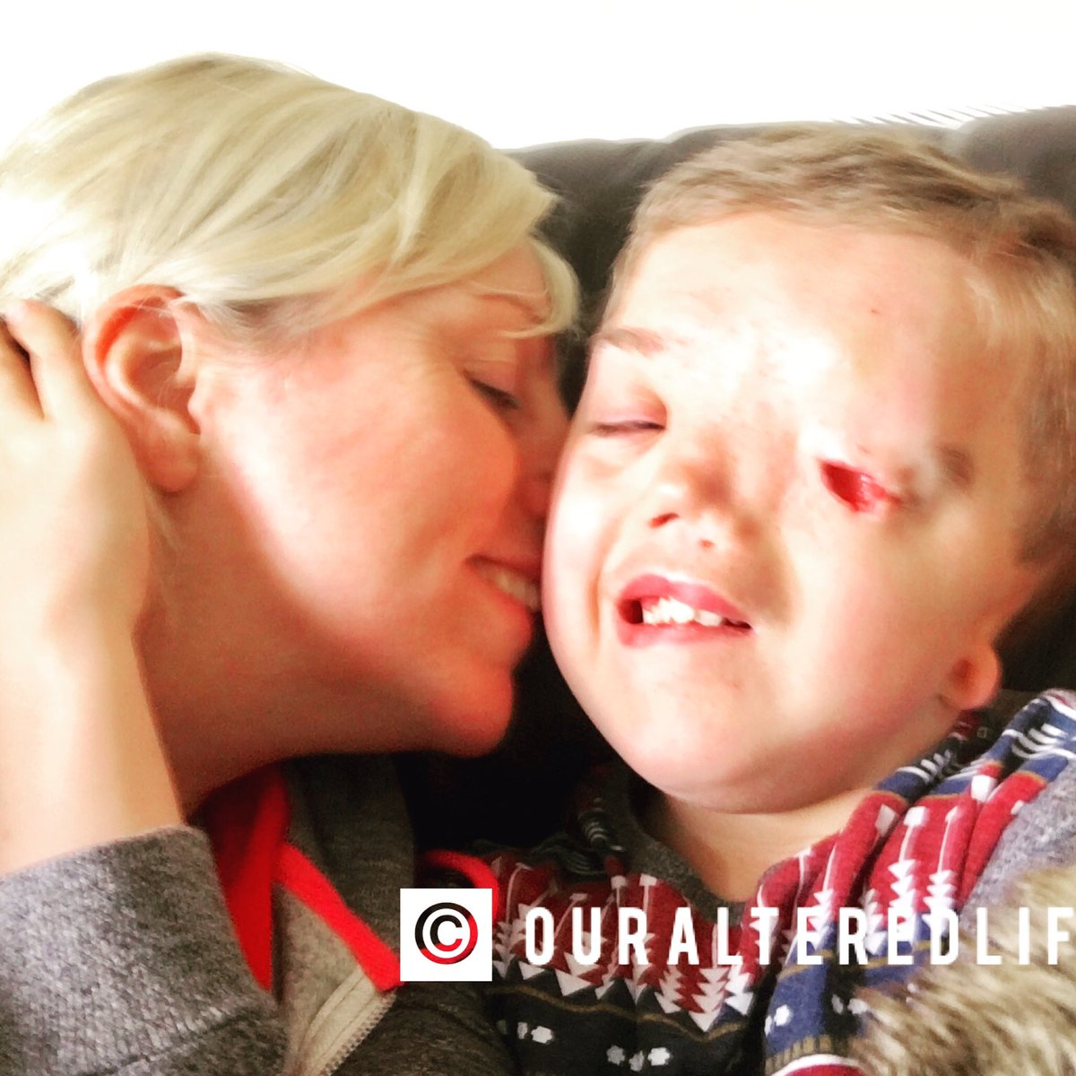 Someone is reporting my son's face & #Instagram agree saying it doesn't meet their guidelines before removing it. RT to support me in this!