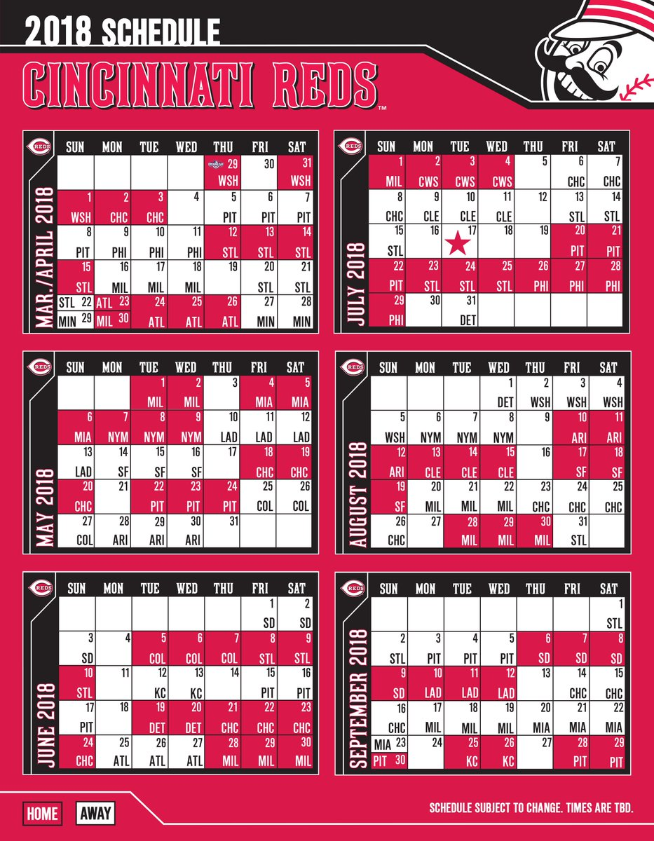 photograph relating to Cincinnati Reds Printable Schedule named Cincinnati Reds upon Twitter: \