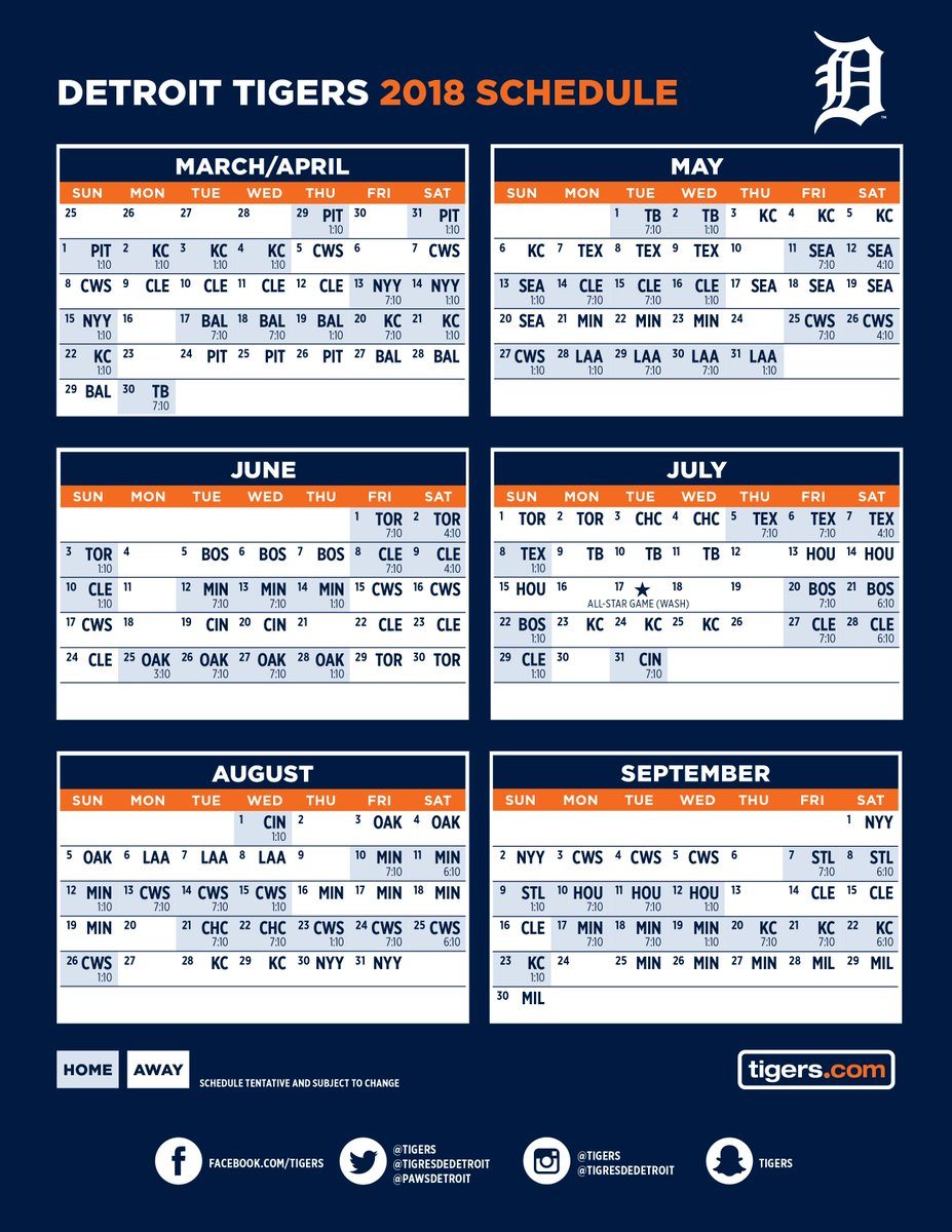 Tactueux image in tigers printable schedule