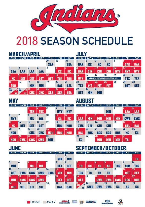 photo about Indians Schedule Printable named Cleveland Indians upon Twitter: \