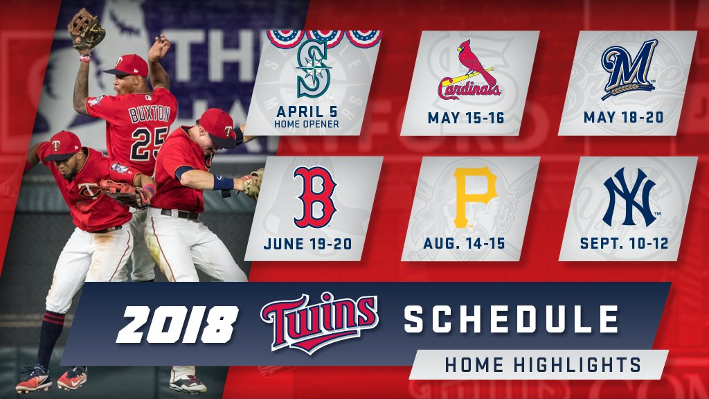 graphic regarding Minnesota Twins Printable Schedule called Minnesota Twins upon Twitter: \