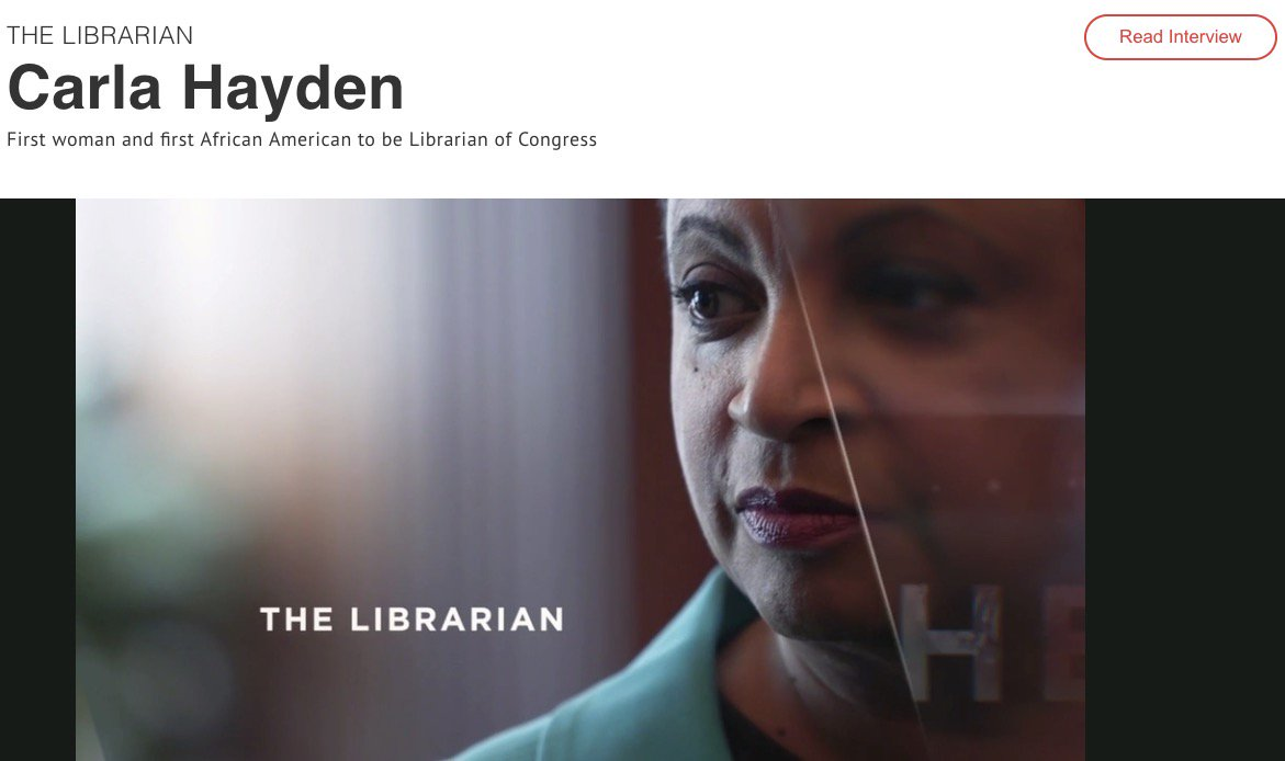 """test Twitter Media - Dr. Carla Hayden (1st woman & 1st African American Librarian of Congress) Named to Time's """"FIRSTS: Women Who are Changing The World"""" List https://t.co/94SgJzIBRM"""