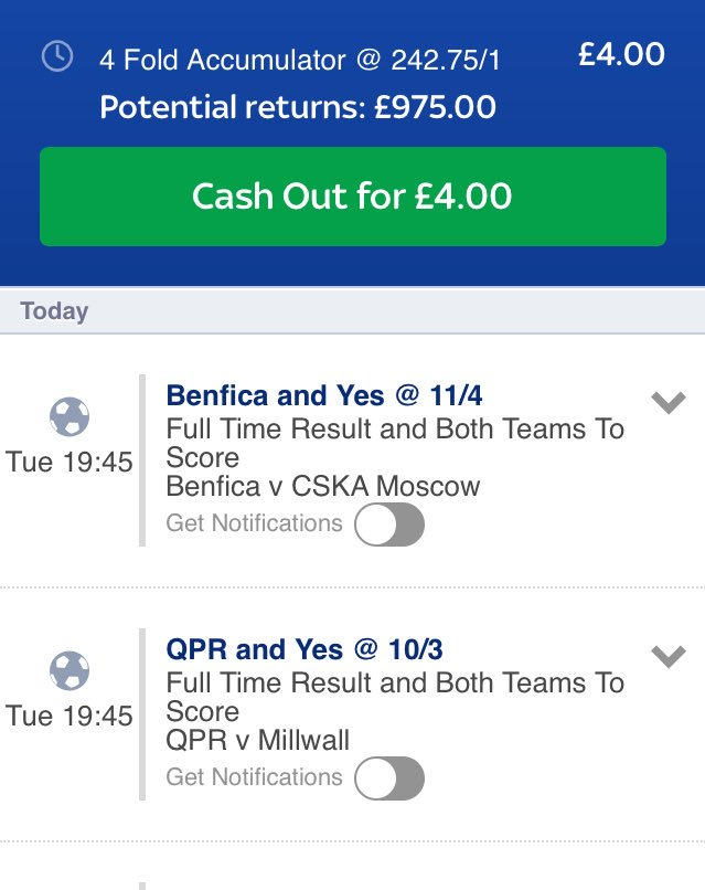 My second bet for tonight is a both teams to score match result bet  #bettingtips #bookiebashing #footballbets #UCL #TuesdayTip #ACCA<br>http://pic.twitter.com/sCu76lzwo0