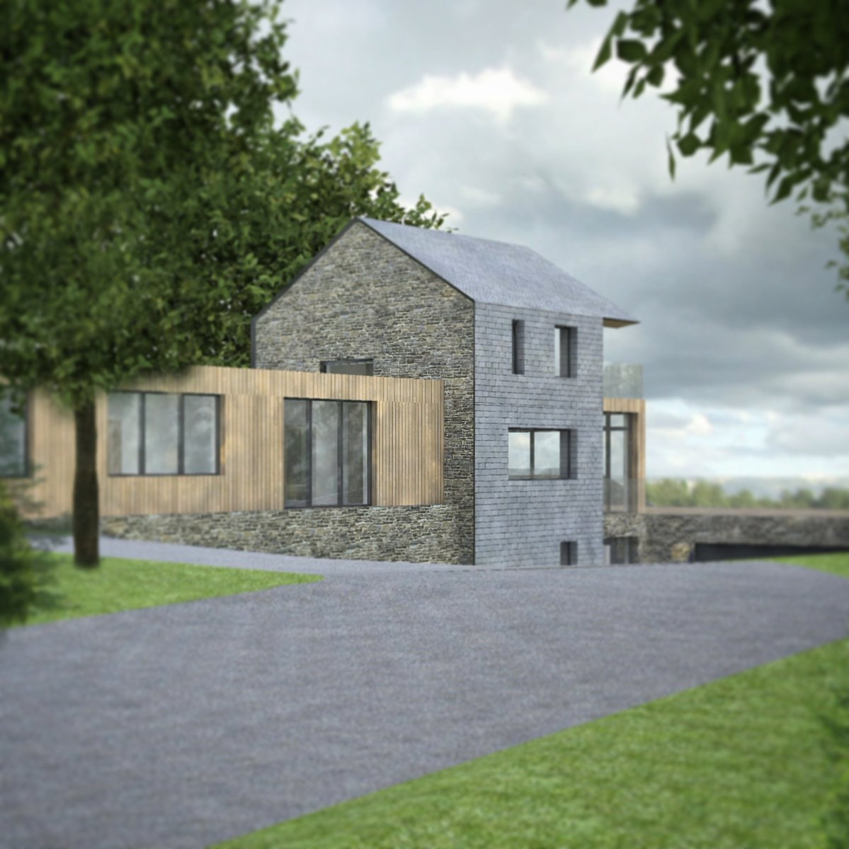 Planning secured for this one-off house in #Cornwall! #traditional materials teamed with #contemporary design. #architecture #slate #stone<br>http://pic.twitter.com/5U3YghYesB