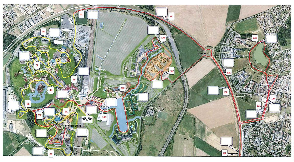 Ed92 On Twitter Course Map For The Disneyland Paris Half Marathon